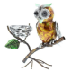 Juliana Natural World Metal Owl Sat on a Branch 61067